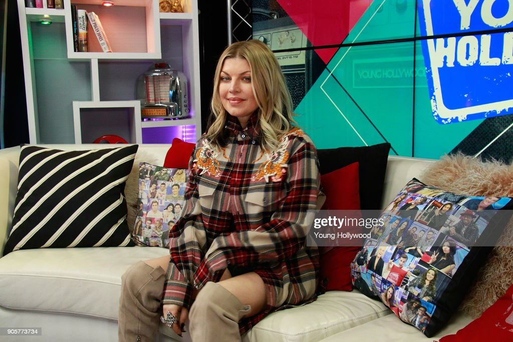 Fergie Visits Young Hollywood Studio