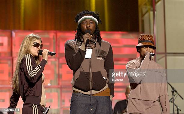 Fergie WillIAm and Taboo of Black Eyed Peas during Spike TV Presents the 2003 GQ Men of the Year Awards Rehearsals at The Regent Wall Street in New...