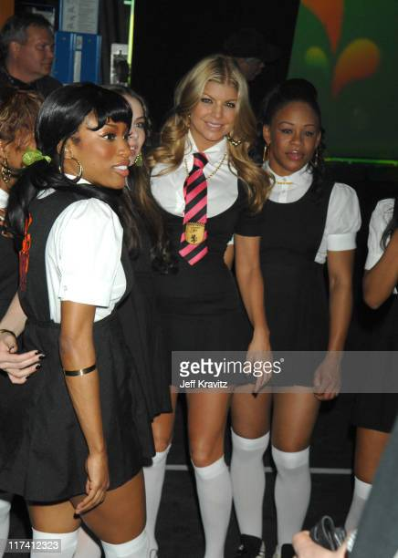 Fergie with dancers during VH1 Big in '06 Backstage and Audience at Sony Studios in Culver City California United States