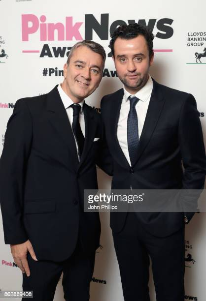 Fergus O'Brien and Daniel Mays attend the Pink News Awards 2017 held at One Great George Street on October 18 2017 in London England
