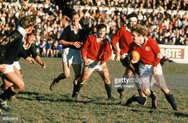 Fergus Slattery of the British Lions in action during the British Lions Tour to New Zealand in 1971