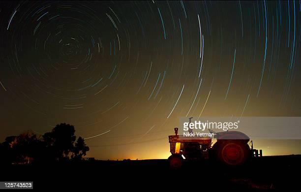 Ferguson Tractor in farm at night