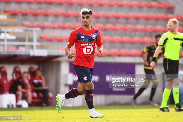 Ferhat COGALAN of Lille during the preseason soccer friendly match between Lille and Mouscron on July 18 2020 in Mouscron Belgium