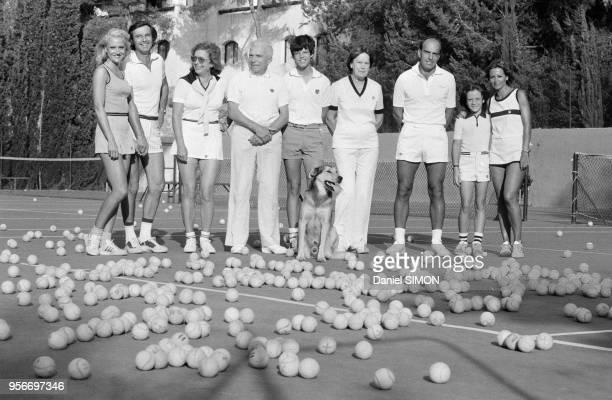 Feri Buding fondateur de l'école de Tennis Buding en famille à Bandol le 4 aout 1979 France