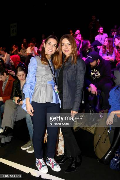 Feride Tansug Acar and Hande Tokmak attend the Exquise show during MercedesBenz Fashion Week Istanbul March 2019 at Zorlu Center on March 22 2019 in...