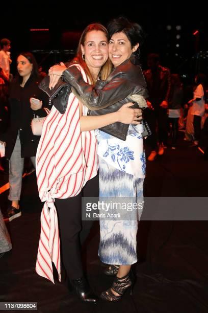 Feride Tansug and Banu Bolen attend the MercedesBenz Fashion Week Istanbul March 2019 at Zorlu Center on March 20 2019 in Istanbul Turkey