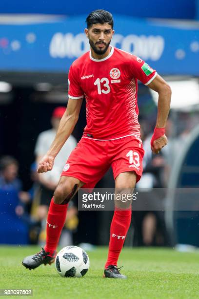 Ferjani Sassi of Tunisia during the FIFA World Cup Group G match between Belgium and Tunisia at Spartak Stadium on June 23 2018 in Moscow Russia