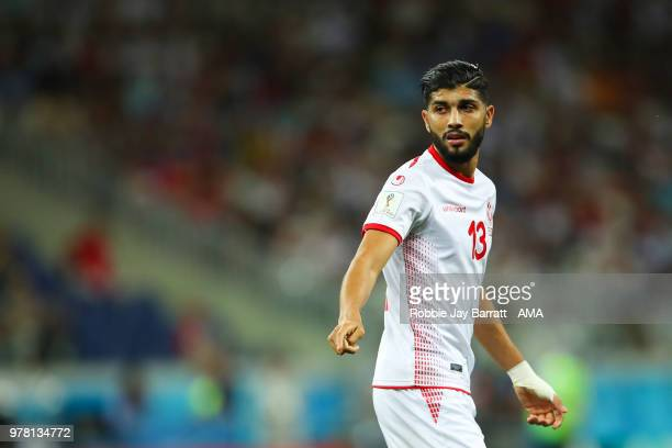 Ferjani Sassi of Tunisia in action during the 2018 FIFA World Cup Russia group G match between Tunisia and England at Volgograd Arena on June 18 2018...