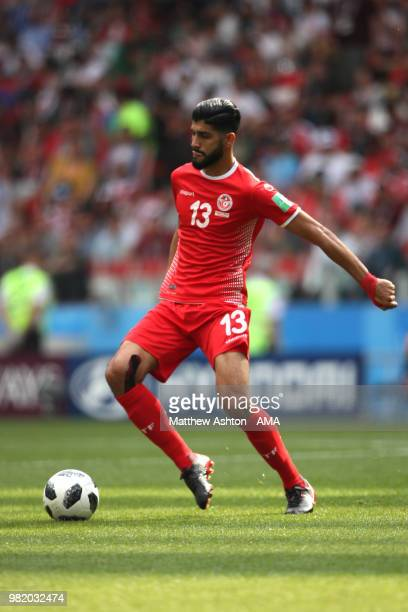 Ferjani Sassi of Tunisia in action during the 2018 FIFA World Cup Russia group G match between Belgium and Tunisia at Spartak Stadium on June 23 2018...