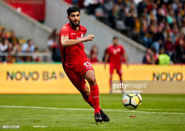 Ferjani Sassi of Tunisia in action during the friendly match of preparation for FIFA 2018 World Cup between Portugal and Tunisia at the Estadio AXA...