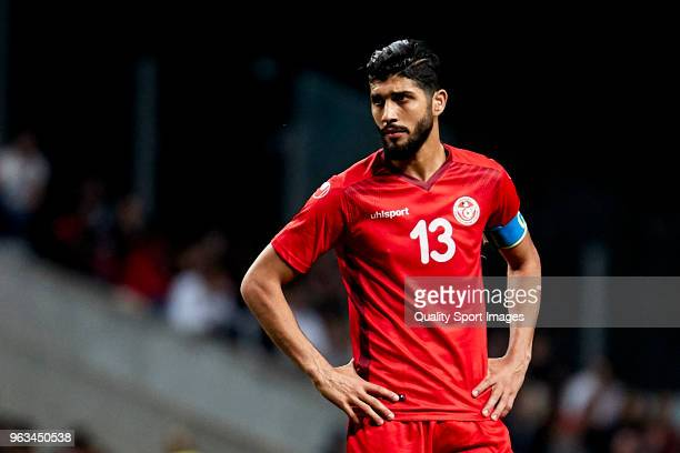 Ferjani Sassi of Tunisia looks on during the friendly match of preparation for FIFA 2018 World Cup between Portugal and Tunisia at the Estadio AXA on...