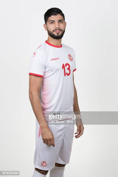 Ferjani Sassi of Tunisia poses during the official FIFA World Cup 2018 portrait session on June 13 2018 in Moscow Russia