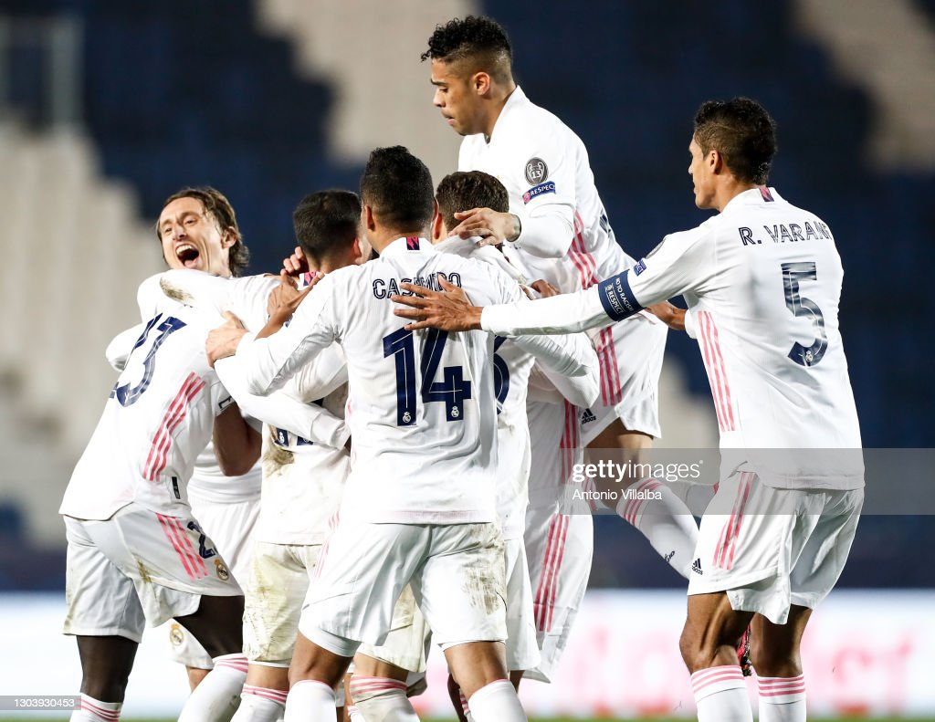 Atalanta v Real Madrid  - UEFA Champions League Round Of 16 Leg One : News Photo
