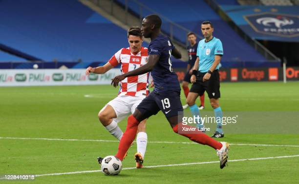 Ferland Mendy of France in action during the UEFA Nations League group stage match between France and Croatia at Stade de France on September 8 2020...