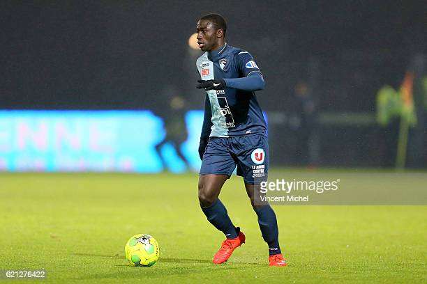Ferland Mendy of Le Havre during the Ligue 2 match between Stade Lavallois and Le Havre AC on November 4 2016 in Laval France