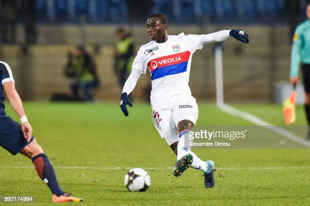 Ferland Mendy of Lyon during the french League Cup match Round of 16 between Montpellier and Lyon on December 13 2017 in Montpellier France