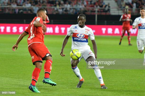 Ferland Mendy of Lyon during the Ligue 1 match between Dijon FCO and Olympique Lyonnais at Stade Gaston Gerard on April 20 2018 in Dijon
