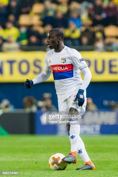 Ferland Mendy of Olympique Lyon in action during the UEFA Europa League 201718 Round of 32 match between Villarreal CF and Olympique Lyon at Estadio...