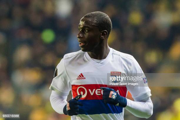 Ferland Mendy of Olympique Lyon looks on during the UEFA Europa League 201718 Round of 32 match between Villarreal CF and Olympique Lyon at Estadio...