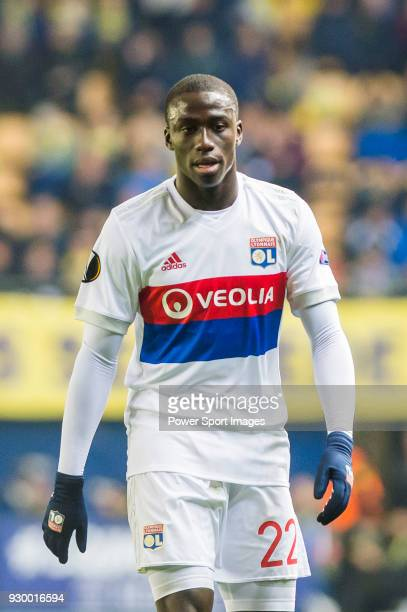 Ferland Mendy of Olympique Lyon reacts during the UEFA Europa League 201718 Round of 32 match between Villarreal CF and Olympique Lyon at Estadio de...
