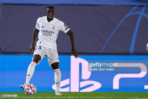 Ferland Mendy of Real Madrid looks on during the UEFA Champions League Group B stage match between Real Madrid and Shakhtar Donetsk at Estadio...