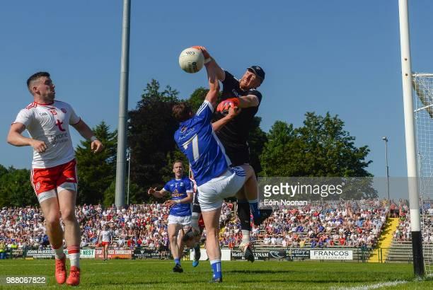 Fermanagh Ireland 30 June 2018 Michael ONeill of Tyrone in action against Fergal Reilly of Cavan during the GAA Football AllIreland Senior...