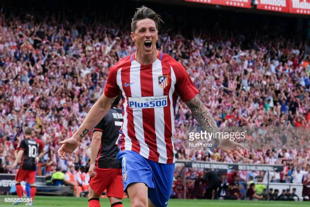 Fermando Torres of Atletico de Madrid during The La Liga match between Club Atletico de Madrid and Athletic Bilbao at Vicente Calderon on May 21 2017...