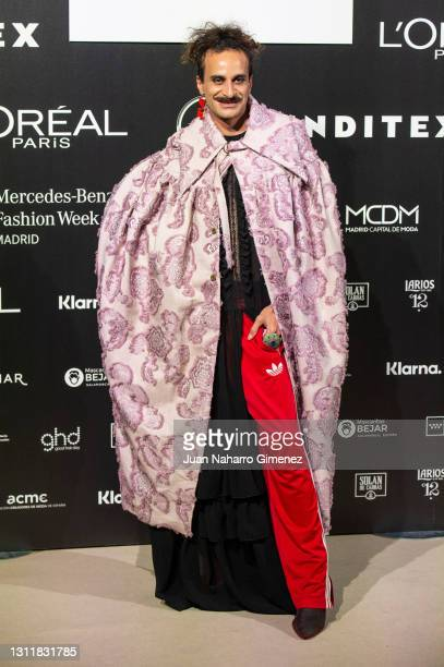 Fermin attends Maison Mesa fashion show during the Merecedes Benz Fashion Week April 2021 edition at Ifema on April 10, 2021 in Madrid, Spain.