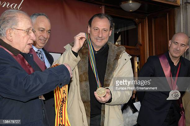 Fermin Cacho is appointed Cofrade de Honor during the Snail Party at Can Soteras Restaurant on February 6 2012 in Barcelona Spain