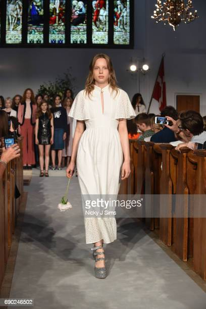 Fern Bain Smith walks during the ALEXACHUNG London Launch and Collection Reveal on May 30 2017 in London England