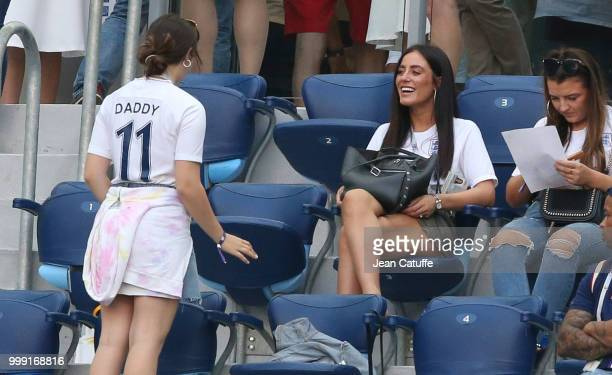 Fern Hawkins girlfriend of Harry Maguire of England during the 2018 FIFA World Cup Russia Third Place match between England and Belgium at Saint...
