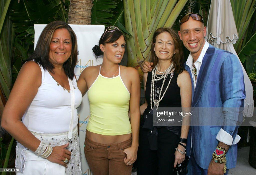 Fern Mallis, Amanda Beard in Ray Ban sunglasses, Sheree Waterson, President of Speedo North America, and Robert Verdi in Chanel sunglasses