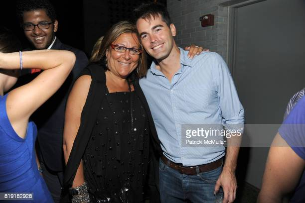 Fern Mallis and Andrew Freesmeier attend THE CINEMA SOCIETY 2IST host the after party for 'TWELVE' at at the Standard Hotel on July 28 2010 in New...