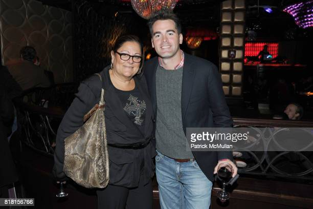 Fern Mallis and Andrew Freesmeier attend THE CINEMA SOCIETY DKNY JEANS host the after party for 'DUE DATE' at AMC Lincoln Square on November 1 2010...