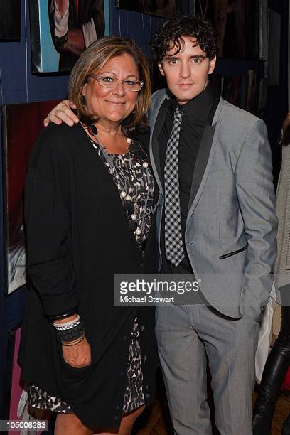 """Fern Mallis and Artist Vincent Fantauzzo attend Vincent Fantauzzo's """"30 Portraits 30 Days, NYC"""" exhibition opening at The National Arts Club on..."""