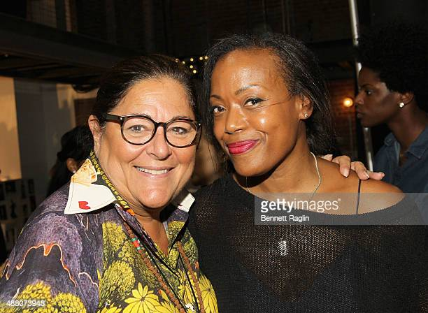 Fern Mallis and designer Tracy Reese attend Tracy Reese S/S 2016 with SheaMoisture during New York Fashion Week at Art Beam on September 13 2015 in...