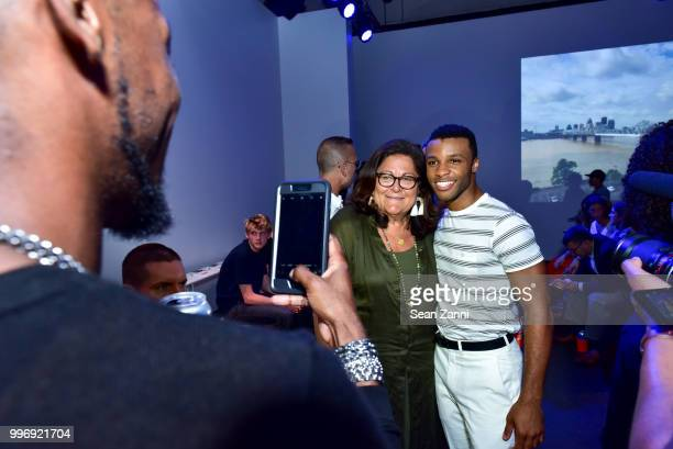 Fern Mallis and Dyllon Burnside attend the Todd Snyder S/S 2019 Collection during NYFW Men's July 2018 at Industria Studios on July 11 2018 in New...