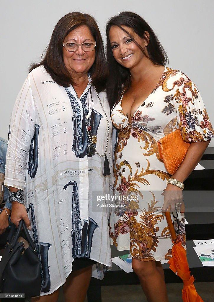 Fern Mallis and Emma Snowdon-Jones attend Gen Art Fresh Faces In Fashion 20th Anniversary at Pier 59 on September 9, 2015 in New York City.