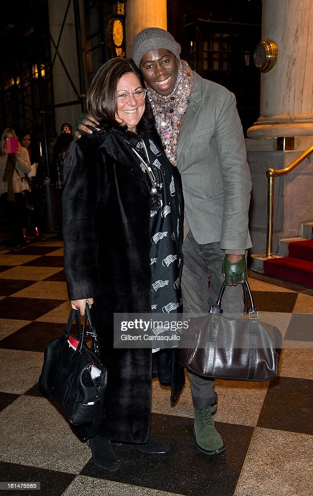Fern Mallis and J. Alexander arrive at the Zac Posen Fall 2013 Mercedes-Benz Fashion Show at The Plaza Hotel on February 10, 2013 in New York City.