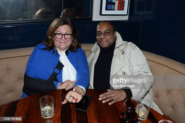 Fern Mallis and Jeffrey Banks attend MAC Nordstrom And The CFDA Host The After Party For The Times Of Bill Cunningham at Bistrot Leo on February 13...
