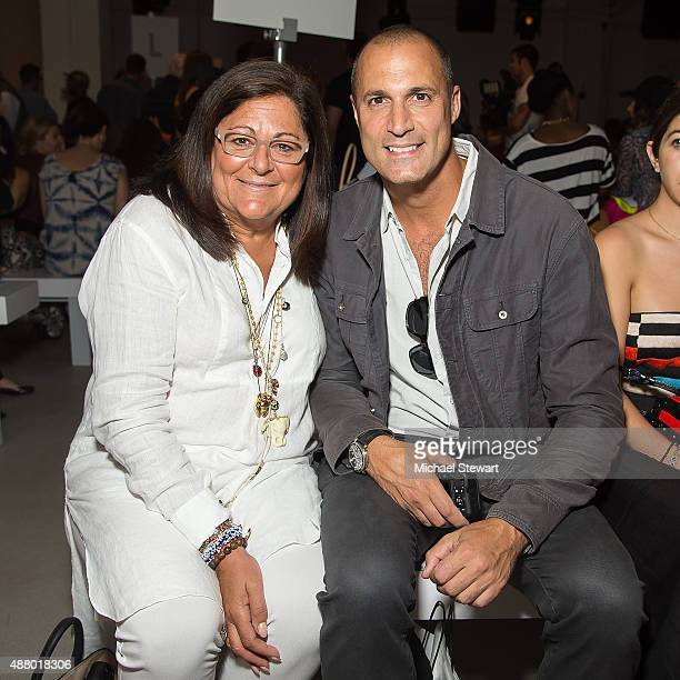 Fern Mallis and Nigel Barker attend the Mara Hoffman fashion show during Spring 2016 New York Fashion Week at The Gallery Skylight at Clarkson Sq on...