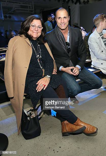 Fern Mallis and Nigel Barker attend the Nautica Men's Fall 2016 fashion show during New York Fashion Week Men's Fall/Winter 2016 at Skylight Modern...