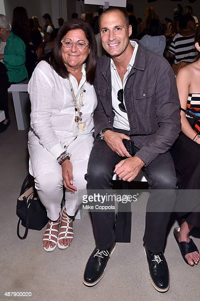 Fern Mallis and photographer Nigel Barker attend Mara Hoffman Spring 2016 during New York Fashion Week The Shows at The Gallery Skylight at Clarkson...