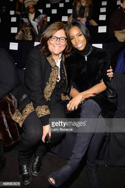 Fern Mallis and singer Kelly Rowland attend the Kaufmanfranco fashion show during MercedesBenz Fashion Week Fall 2014 at The Theatre at Lincoln...