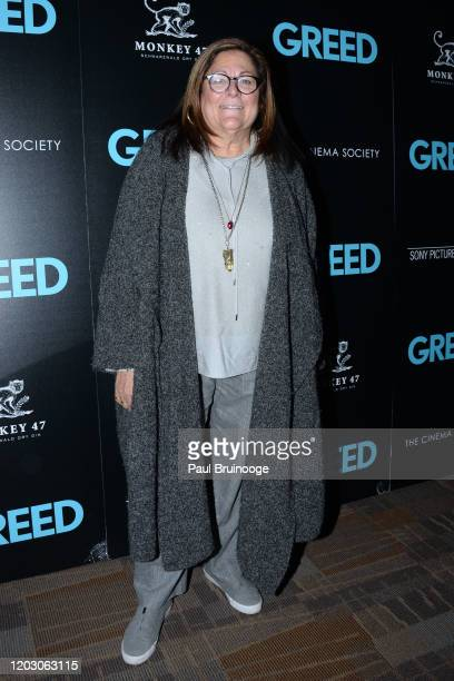"Fern Mallis attends The Cinema Society & Monkey 47 Host A Special Screening Of Sony Pictures Classics' ""Greed"" at Cinepolis Chelsea on February 24,..."