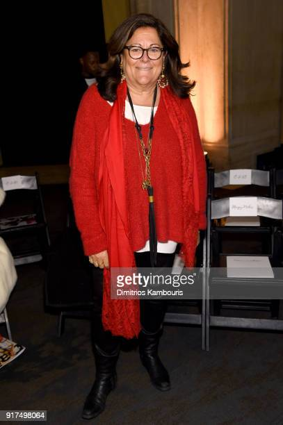 Fern Mallis attends the Oscar De La Renta fashion show during New York Fashion Week The Shows at The Cunard Building on February 12 2018 in New York...