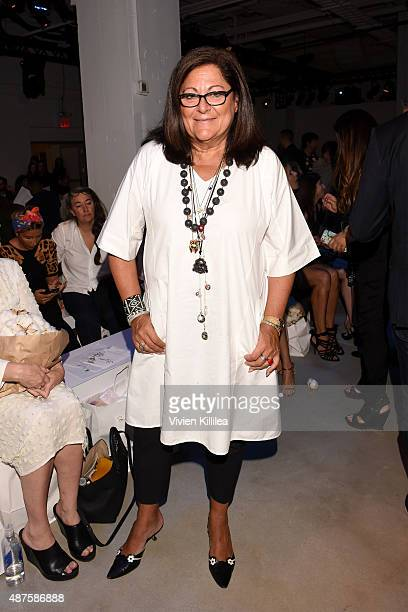 Fern Mallis attends the Supima Design Competition fashion show during Spring 2016 New York Fashion Week The Shows at The Gallery Skylight at Clarkson...