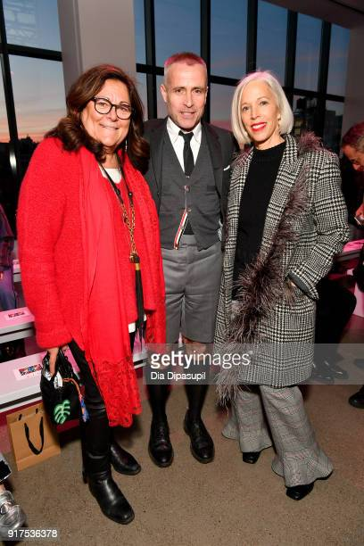 Fern Mallis designer Thom Brown and Linda Fargo attends the Libertine fashion show during New York Fashion Week The Shows at Gallery II at Spring...