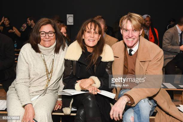 Fern Mallis Julie Gilhart and Ken Downing attend the Rochambeau show during NYFW Men's at Skylight Clarkson North on February 1 2017 in New York City