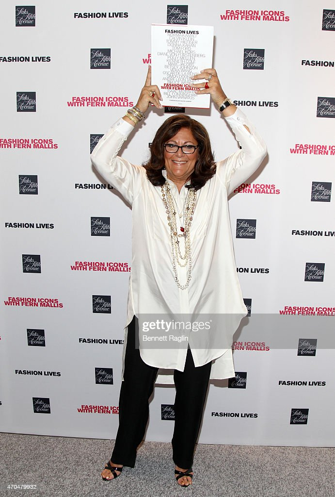 Fern Mallis poses for a picture during the Fashion Lives Book Launch at Saks Fifth Avenue on April 20, 2015 in New York City.